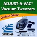 ADJUST-A-VAC Vacuum Tweezer for fragile components, wafers, MEMS devices tweezers