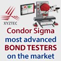 XYZTEC Condor Sigma Revolving Measurement Unit - market leader in bond testing