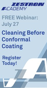 Cleaning before conformal coating - Zestron webinar