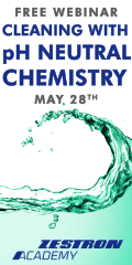 Cleaning with pH Neutral Chemistry