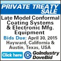 Late Model Conformal Coating Systems & Electronic Manufacturing Equipment Auction
