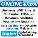 Go-Dove Auction: Siemens SMT Line & Panasonic CM402-L Advance Modular Placement Machine