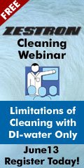 Limitations of Cleaning with DI-water Only