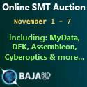 AUCTION: MyData, DEK, Assembleon, Cyberoptics & more...