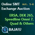 Online SMT Exchange Auction October 5 – October 6, 2015