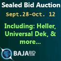 Online Auction - Heller 1808 EXL, Universal Advantis, Universal 4797L, Dek Horizon 01, and more...