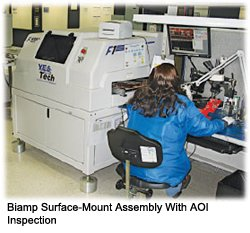 Biamp Surface-Mount Assembly With AOI Inspection
