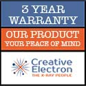 3 YEAR WARRANTY – Industry first, market leading warranty on all award winning TruView X-Ray inspection products from Creative Electron