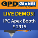 Full-featured Benchtop Robot, Automatic Fluid Dispenser, & Conformal Coating System - Live Demonstrations IPC Apex #2915 - GPD Global