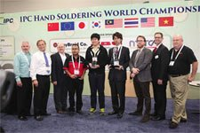 Hand soldering competition winners
