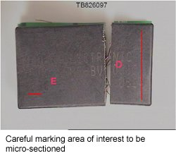 Careful marking area of interest to be micro-sectioned