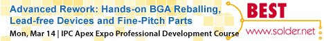 IPC Apex 2016 Professional Development Course - Advanced Rework: Hands-on BGA Reballing, Lead-free Devices and Fine-Pitch Parts.