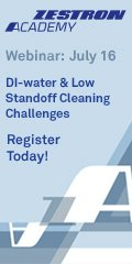 DI-water and Low Standoff Cleaning Challenges
