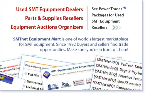 Power Trader Packages for Used SMT Equipment Resellers