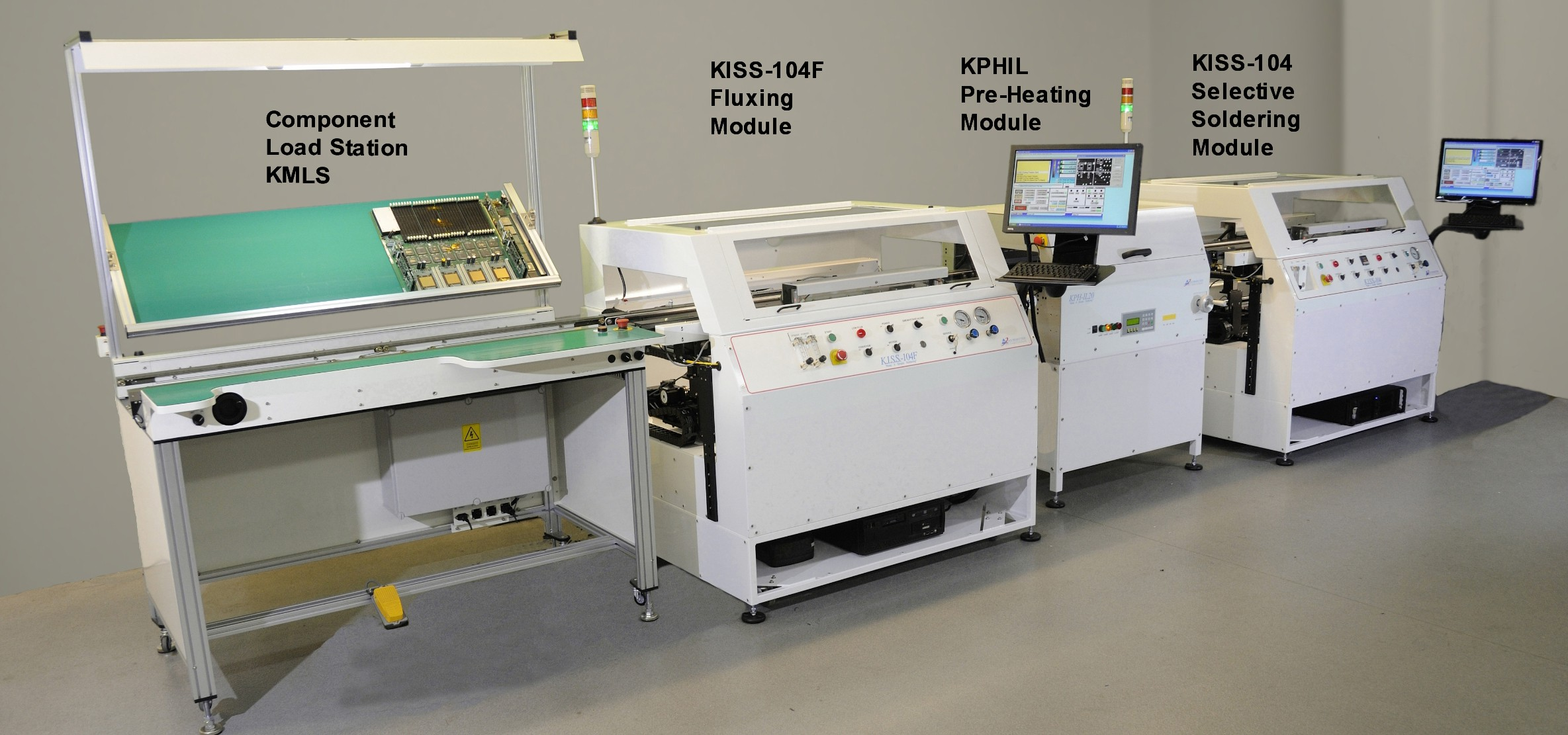 Kiss 104 Automated Selective Soldering Machine