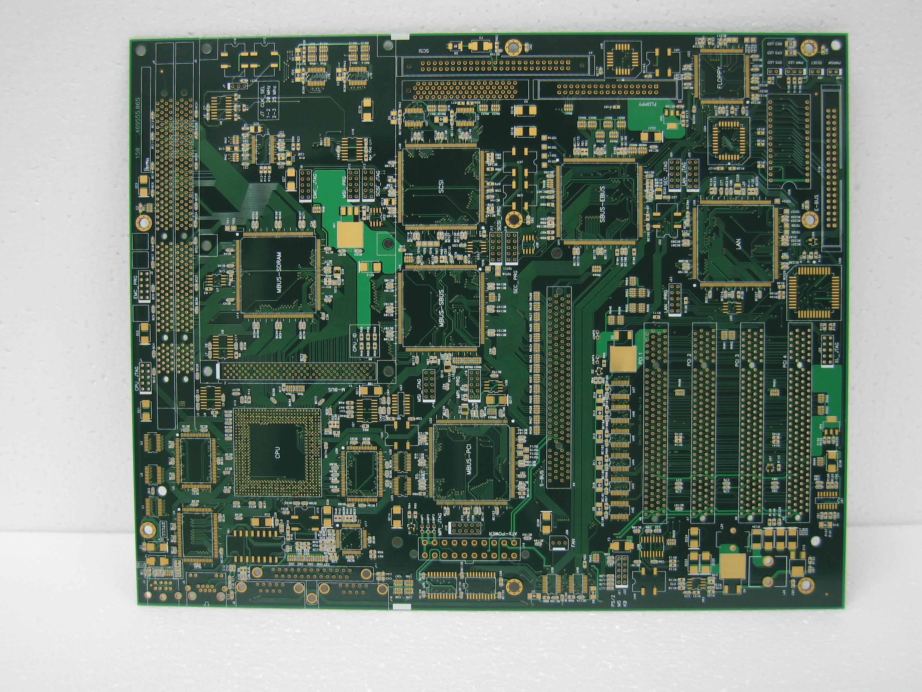 2 layers Pb Free HAL 1.55mm PCB
