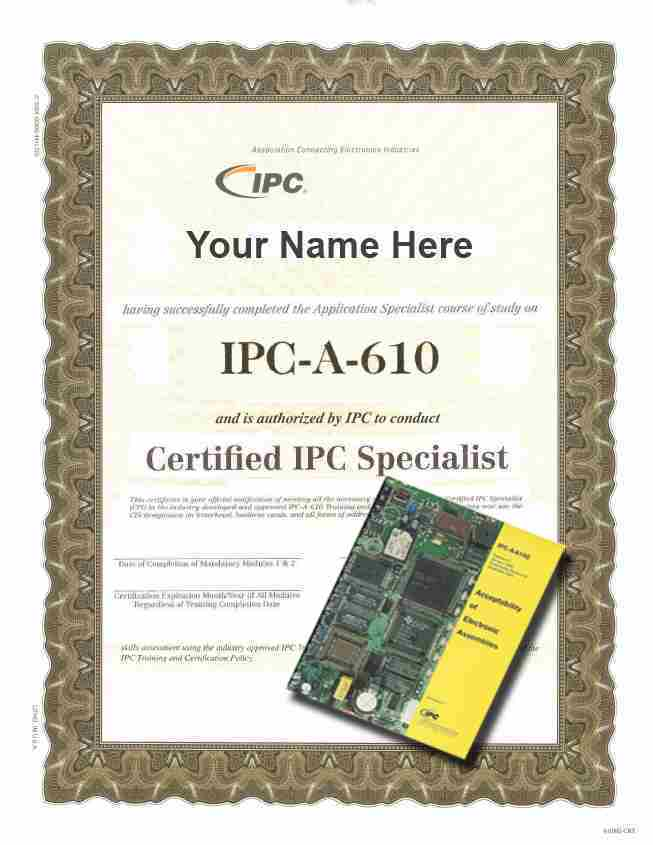 IPC-A-610E CIS Challenge Test Certification