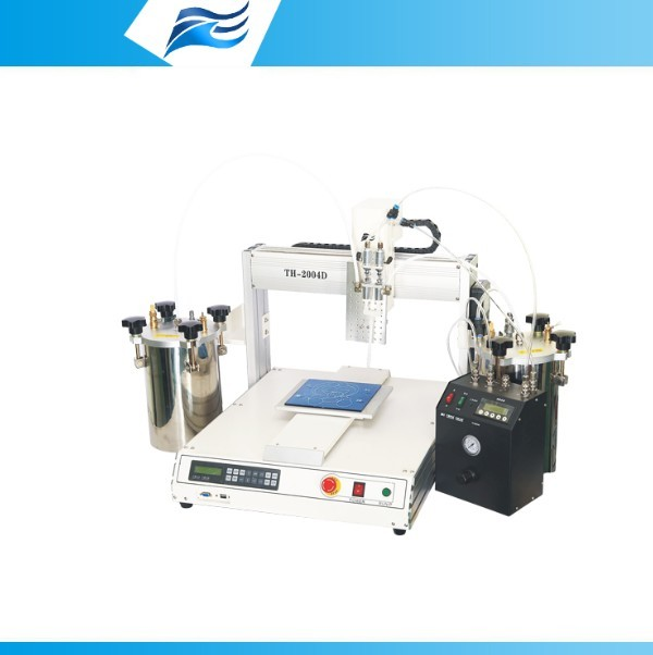 Two Part Epoxy Dispenser ~ Tianhao part ab epoxy glue mix meter dispensing machine