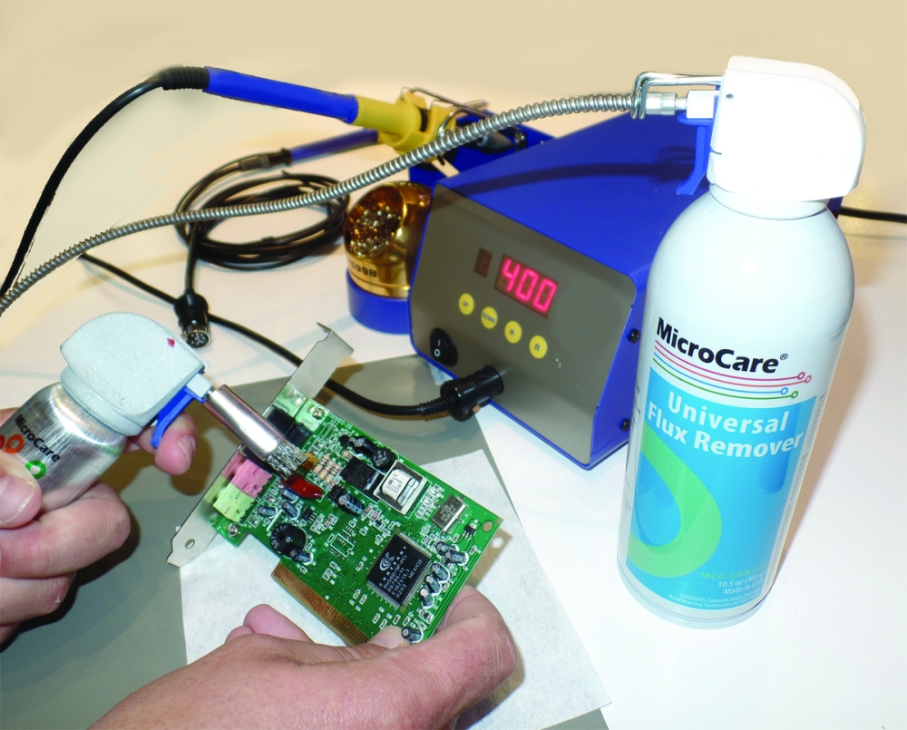 Microcare Introduces New Green Cleaning Products At Productronica Aerosol Contact And Circuit Board Cleaner Universal Flux Remover