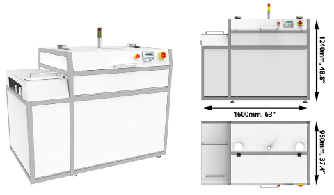 Uv 1600 conformal coating curing oven for Paint curing oven
