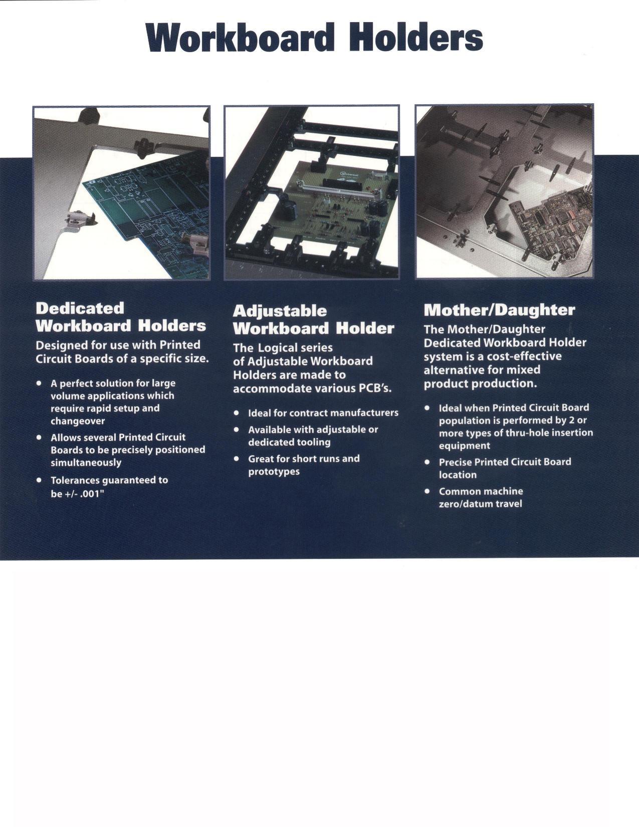 Work Board Holders Printed Wiring Types