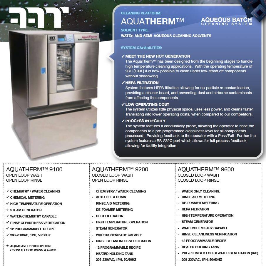 AquaTherm™ PCB Batch Cleaners