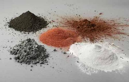 Plasmadust can process any material that can be pulverized and melted, these include salt, gold, copper, aluminum, tin, bismuth, tellurite, CIGS, polymers (PTFE, PE, ABS, PP), glass and ceramic materials.