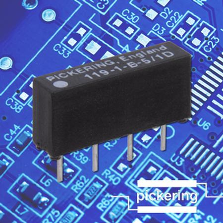 Series 119 high voltage micro-SIL relay range.