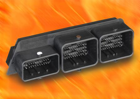 The new 154-circuit, three-pocket, right-angle header with compliant-pin terminals improves productivity and reduces assembly costs by enabling a solder-free process, as opposed to conventional press-fit type mounting processes.