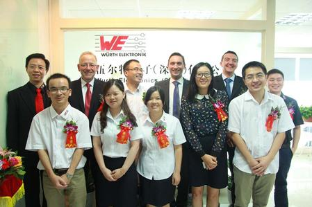 The Asia Sourcing Team from Würth Elektronik: Residential Engineers provide high-quality standards on site.