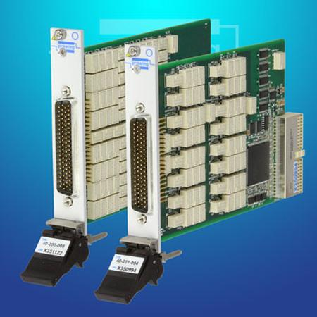 PXI High-Density Precision Programmable Resistor Module (model 40-297) and PCI High-Density Precision Programmable Resistor Card (model 50-297).
