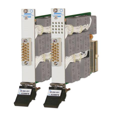 16 Amp PXI power multiplexer (model 40-662).