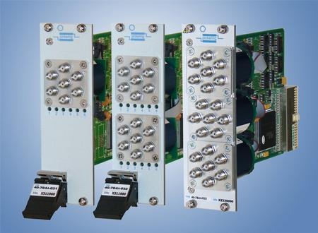 The PXI Microwave Multiplexer Upgrade now supports one, two, or three microwave multiplexers and the multiplexers can be ordered as either 4-way or 6-way.