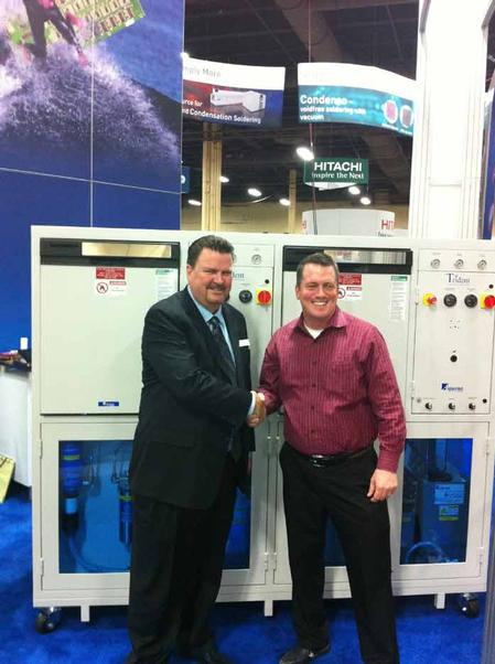 From left to right: Michael Konrad, CEO of Aqueous Technologies, and W. Scott Fillebrown, CEO of ACD
