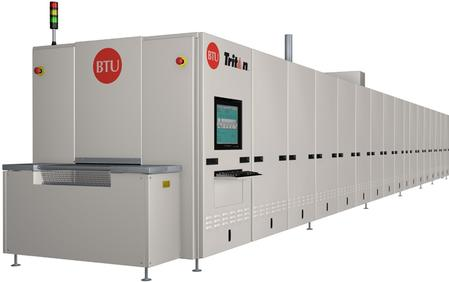 The Tritan™ Metallization Firing System, featuring BTU's exclusive TriSpeed™ technology, allows users to take advantage of superior ramp rates up to 200o C per second while not compromising the drying and cooling sections of the profile.