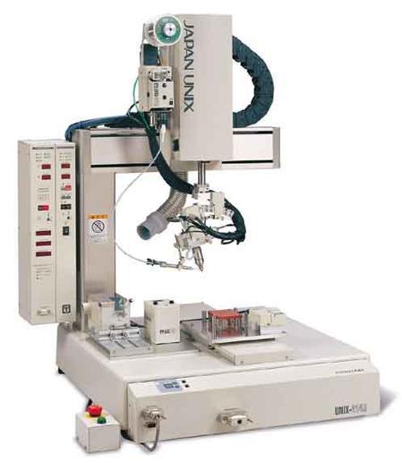 Japan Unix Unisonik 414R ultrasonic robotic soldering system.