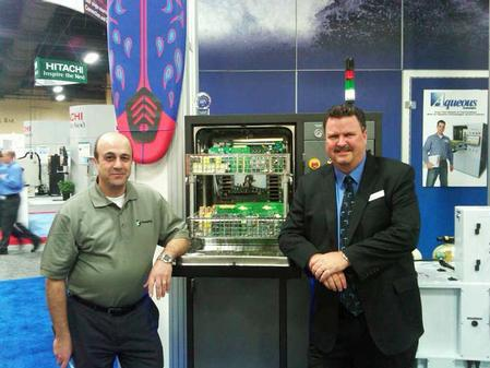From left to right: Farid Anani, Computrol's Manufacturing Manager, and Michael Konrad, President of Aqueous Technologies Corp.