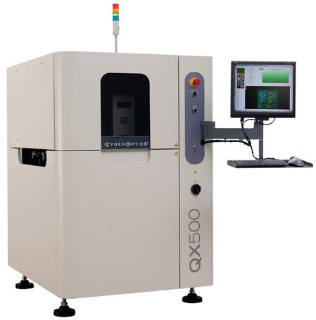 CyberOptics' innovative QX500™ AOI system is designed with a unique image acquisition solution – Strobed Inspection Module (SIM).