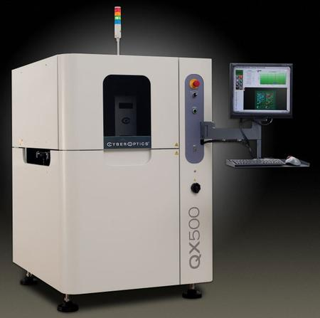 The QX500 embraces CyberOptic's unique image acquisition solution - Strobed Inspection Module (SIM) and is capable of inspecting 01005 components and larger at 100 cm2/sec, securely positioning itself as the fastest area-scannng Automated Optical Inspection system in the industry.