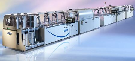 DEK Solar's award-winning PV1200 metallization line.