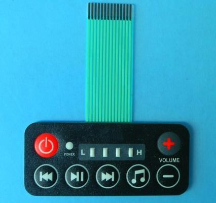 Electronic tact embossed membrane switch