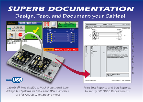 CableEye® Low Voltage Cable & Harness Test Systems (for Continuity, Resistance, Diodes, Intermittence)