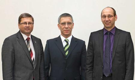 With the appointment of Rainer Krauss as the new director of sales for ERSA as well as a member of the executive management, ERSA has decidedly strengthened its sales team. Through this appointment, the company, already Europe's largest supplier of soldering systems, has positioned itself to gain, world wide, additional market share. In the picture (left to right): Rainer Krauss, Bernd Schenker, Albrecht Beck.