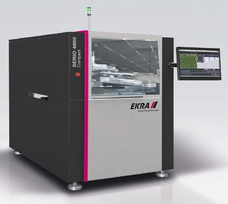"The SERIO 4000 printer grows with the task and can be adapted to carry out a vast range of applications, from simple to complex. The printer processes boards up to 20""x20"" and accepts stencils from 18""x18"" to 31.5""x35.5"",  all with a repeatability ± 12.5 µm @ 6 Sigma."