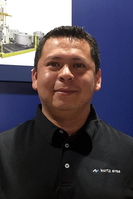 Gerardo Mejia is the company's new field service engineer.