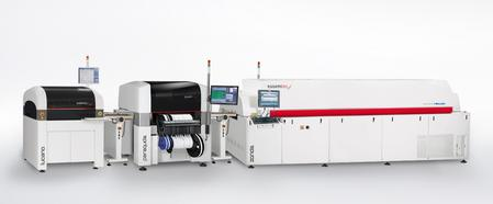 Modular mid-/high-volume production line