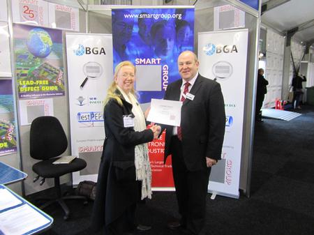 Sue Knight, SMART Group's Technical Chairman, Presents Mike Nelson with the SMART FELLOW AWARD