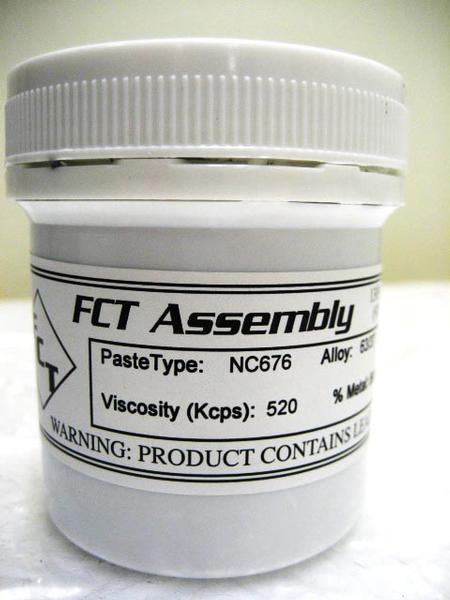 NC676 halide-free lead-free, no-clean solder paste