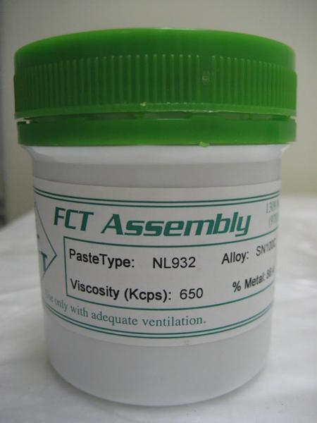 NL932 halide-free lead-free, no-clean solder paste