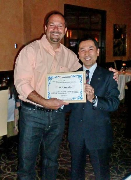 Mike Scimeca (left) of FCT Assembly and Tetsuro Nishimura of Nihon Superior